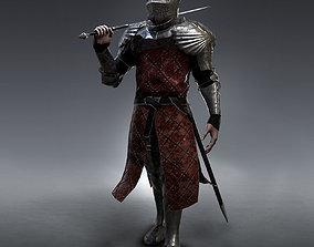 Medieval Knight rigged 3D model
