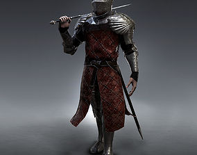 Medieval Knight rigged 3D model
