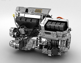 Toyota Hybrid Engine 3D