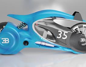 Bugatti motocycle 3D asset