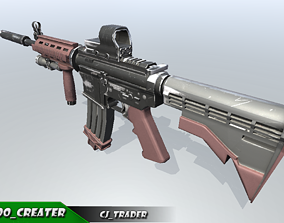 Modern Assault rifle special 3d model game-ready