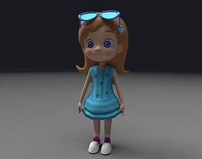 3D asset animated Little girl