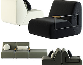 3D model Punt GIN Sofa