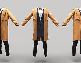 3D asset Female Clothing 14