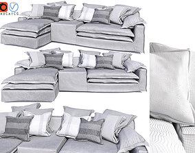Jan New Sofa by Linteloo Grey 3D