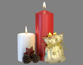 3D model PBR Christmas Candles