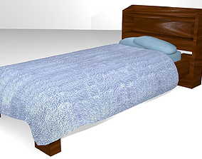 Wooden Bed - Game Ready 3D asset