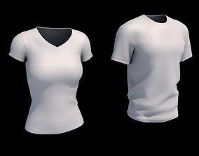 Male-female Tshirt 3D model