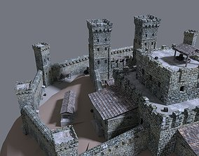 castle 3D model trebuchet