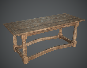 Medieval Table 3D asset