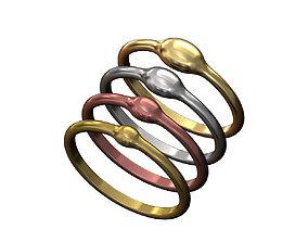 Rain Droplet Stacking Ring Set 3D printable model