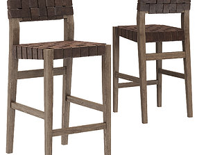 3D model Restoration Hardware Vero Leather Stool