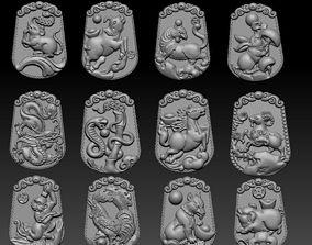 3D print model Chinese zodiac signs