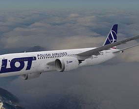 Boeing 787 Dreamliner LOT Polish Airlines 3D model