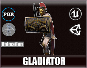 3D asset animated realtime Gladiator