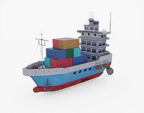 3D model realtime Cargo Ship