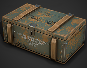 Ammo Crate 01 Low Poly Mobile Ready 3D model
