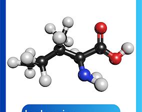 Isoleucine C6H13NO2 3D