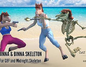 Binna and Binna Skeleton for Genesis 8 Female 3D asset