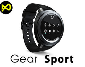 3D model Samsung Gear Sport Smartwatch Black