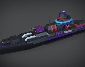 Mini Exprimental destroyer 3D asset