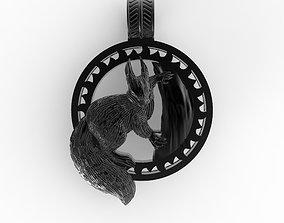 amulet squirrel 3D print model