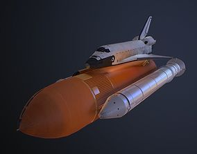 spacex Space Shuttle 3D model low-poly