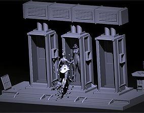 3D printable model cyborg