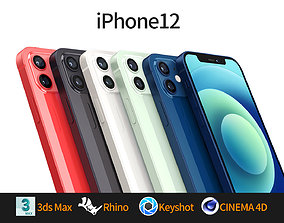 Apple iphone 12 mobile phone 3D model 3D model 3D