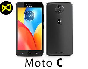 3D model Motorola Moto C 2017 Black