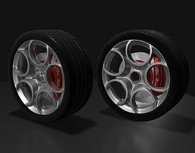 Alfa Romeo style wheel 3D model