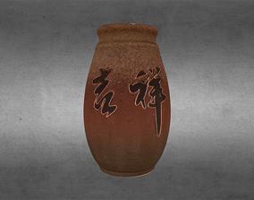 3D Asian Decorative Vases