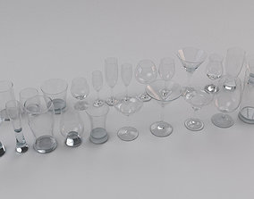 3D Set Collection of Glass