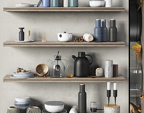 Scandinavian decorative set for the kitchen 3D model