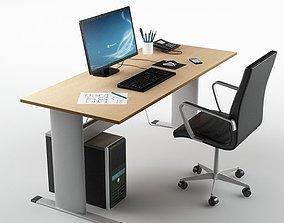 Desk Office 01 3D model