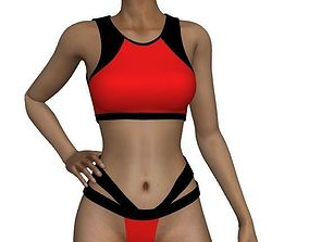 bikini 3D asset