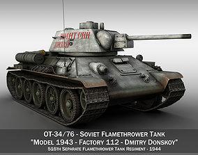 OT-34-76 - Soviet Flamethrower Tank - DD 3D