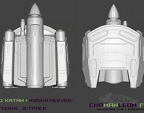 Bo Katan and Koska Reeves Jetpack The 3D print model 1