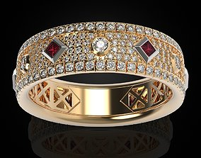 3D print model Stylish womens engagement ring with 2