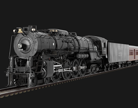 3D Santa Fe 3751 Steam Locomotive