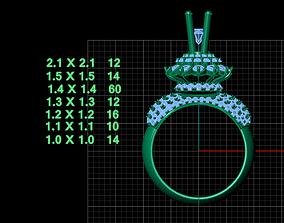 rings 3D printable model DIAMOND RING 1