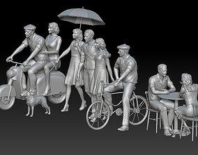 3D print model man and woman