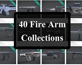 40 firearms collections 3D asset