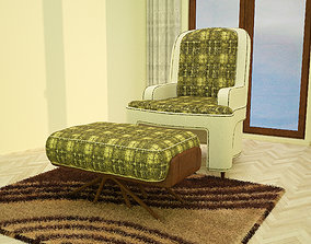 3ds max green sofa model vintage