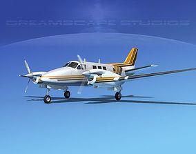 Beechcraft King Air C90 V08 3D model