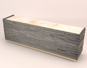 Brick sideboard 3D model