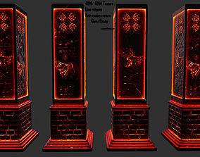 lava pillar 3D asset