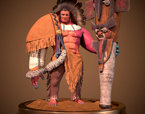 3D asset Realtime Lowpoly model Indian Native PBR 4k
