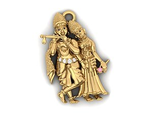 3D print model krishna charm