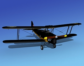 Dehavilland DH82 Tiger Moth V08 3D